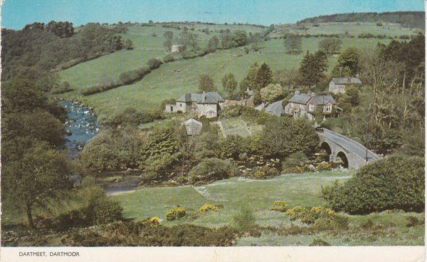 Post Card Devon Dartmoor DARTMEET Jarrold Cotman-Color