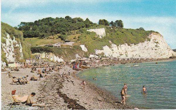 Post Card Devon BEER The Beach PT1264