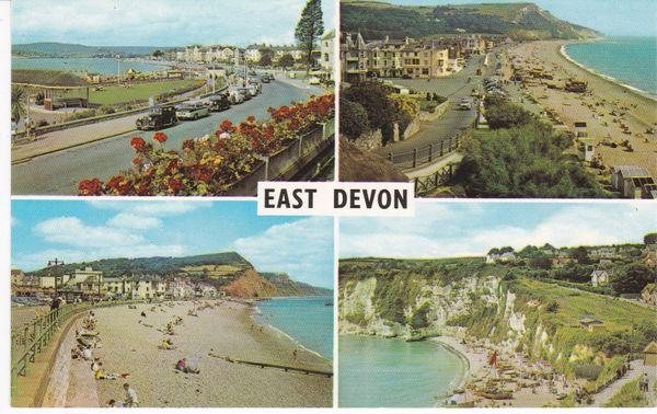 Post Card Devon EAST DEVON Four views PLC1261