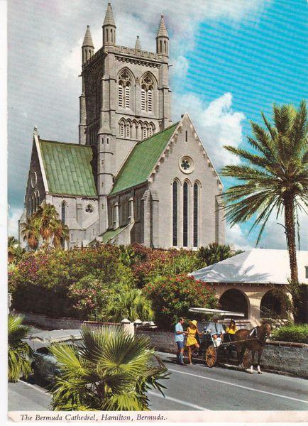 Post Card BERMUDA HAMILTON The Bermuda Cathedral John Hinde 28DA27