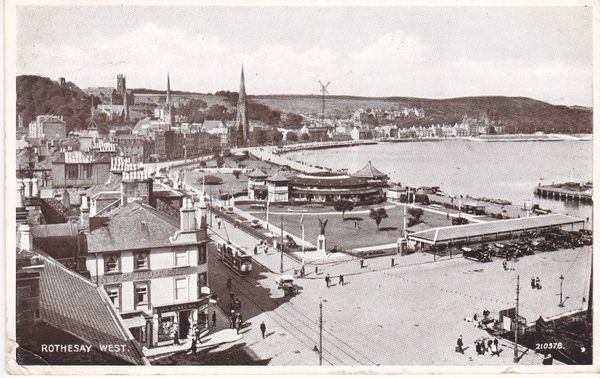 Post Card Scotland Argyll and Bute ROTHESAY West 1935