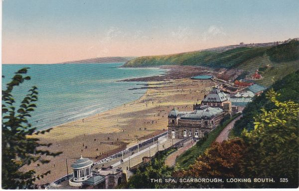 Post Card Yorkshire SCARBOROUGH The Spa, looking South