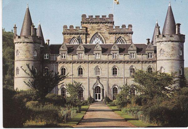 Post Card Scotland Argyll and Bute INVERARAY CASTLE J. Arthur Dixon PAR/22646