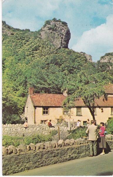 Postcard Somerset CHEDDAR Lion Rock Plastichrome WHS 4561