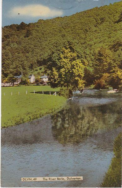 Postcard Somerset DULVERTON The River Barle A Frith Card DLVN.49