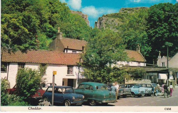 Postcard Somerset CHEDDAR published by Harvey Barton C6M