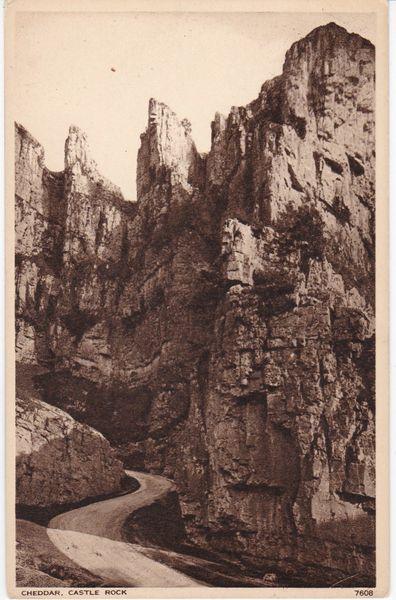 Postcard Somerset CHEDDAR Castle Rock Photochrom 2608
