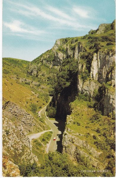 Postcard Somerset CHEDDAR GORGE published by J. Salmon Ltd. 4046c