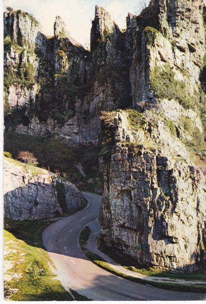 Postcard Somerset CHEDDAR GORGE The Pinnacle and Castle Rock J. Arthur Dixon Som 298