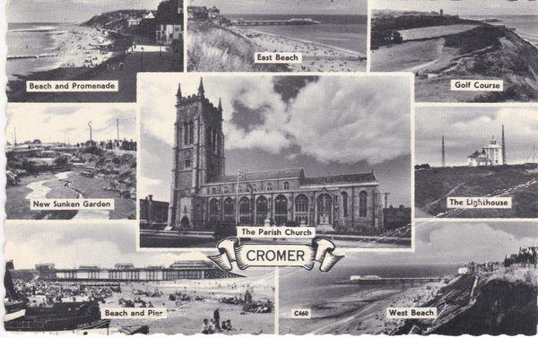 Post Card Norfolk CROMER 8 views