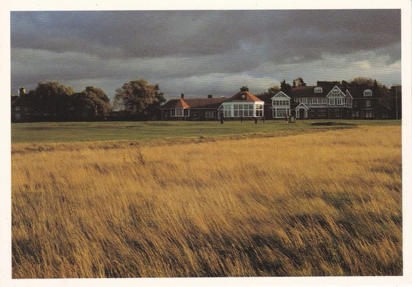 Post Card Scotland East Lothian GULLANE Muirfield 18th Green and Club Golf David J. Whyte DJ78 - The Scottish Gallery