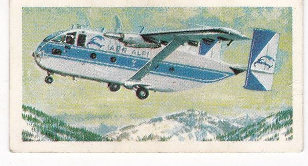 Trade Card Brooke Bond Transport Through the Ages No 40 Transport Aircraft
