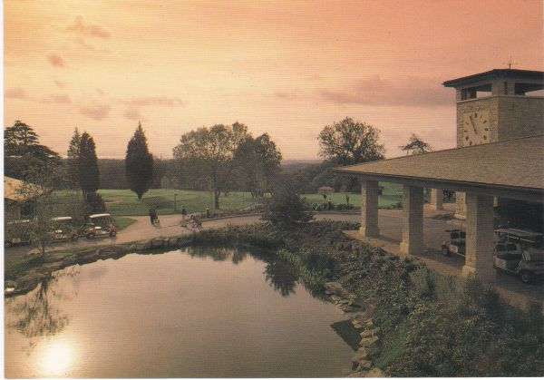 Post Card WALES Gwent NEWPORT The Celtic Manor Hotel Sunset over the Golf Clubhouse
