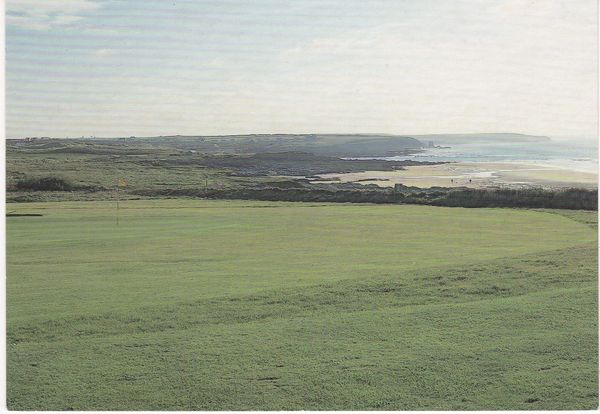 Post Card Cornwall Padstow Trevose Golf & Country Club The Fifth Green on the New Course