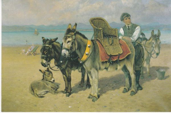 Post Card THE DONKEY BOY by William Woodhouse Lancaster City Museums