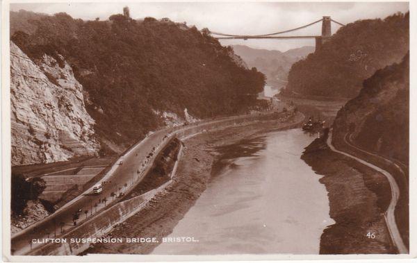 Postcard Somerset BRISTOL Clifton Suspension Bridge Excel Series