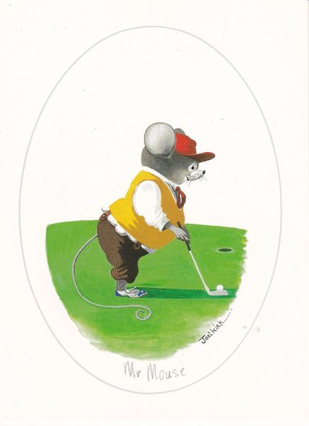 Post Card Comic / Golf Mr Mouse by Joel Kirk