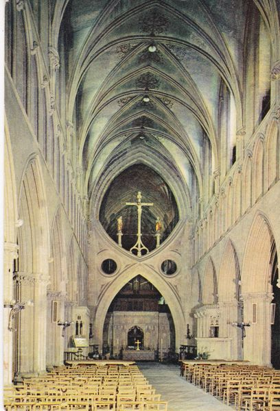 Postcard Somerset Somerset WELLS Wells Cathedral The Nave J. Arthur Dixon