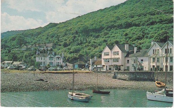 Postcard Somerset PORLOCK WEIR Plastichrome
