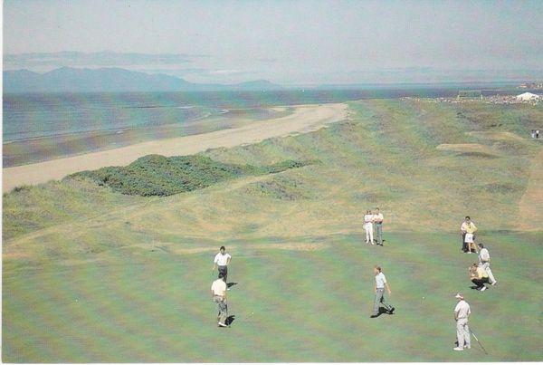 Post Card Scotland Ayrshire ROYAL TROON GOLF CLUB 5th Green OPEN 1989 Nicolson of Largs