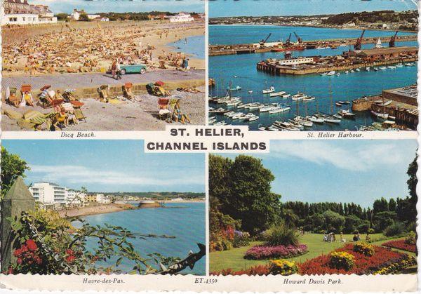 Post Card Channel Islands JERSEY St. Helier 4 views Valentine