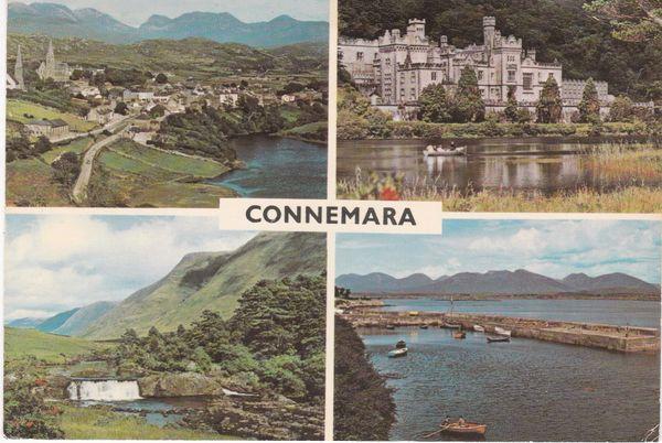 Post Card IRELAND Southern Ireland co. Galway Connemara 4 views N.P.O. Ltd. fotocolor