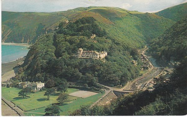 Post Card Devon LYNMOUTH Countisbury Hll Platichrome WHS 570