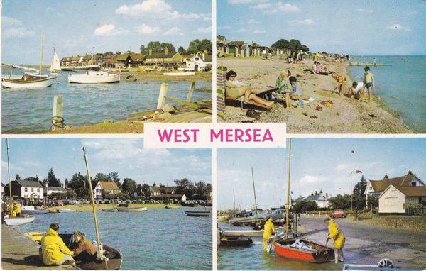 Post Card Essex WEST MERSEA 4 views PLC8433