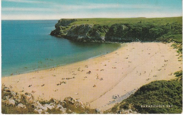 Post Card WALES Pembrokeshire BARAFUNDLE BAY Salmon Cameracolour