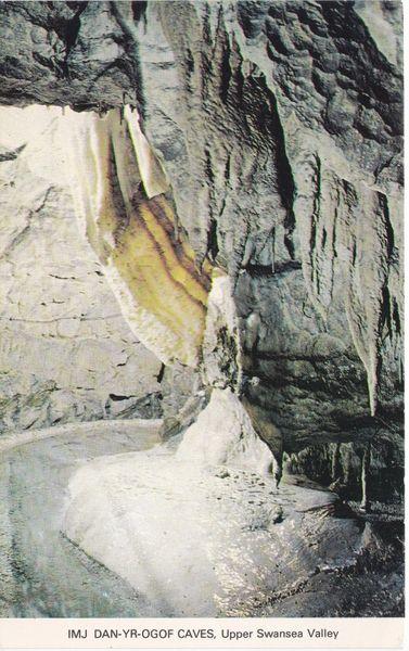 Post Card WALES Powys Dan-Yr-Ogof Show Caves Harvey Barton