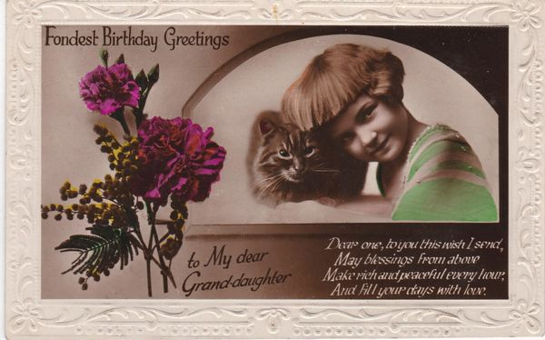 Post Card Greetings - Birthday Fondest Birthday Greetings to My dear Grand-daughter