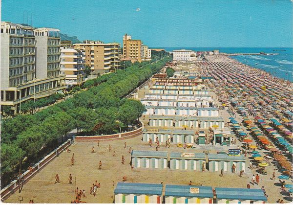 Post Card Italy PESARO General View and the Beach