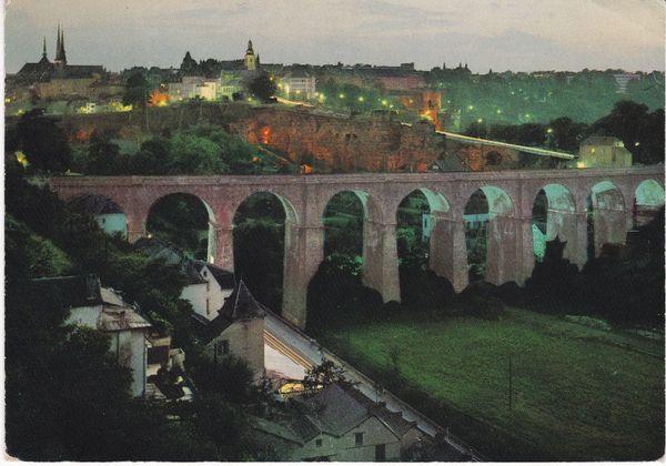 Post Card Luxembourg LUXEMBOURG LA NUIT Panorama Villa Haute No. 154 Paul Kraus