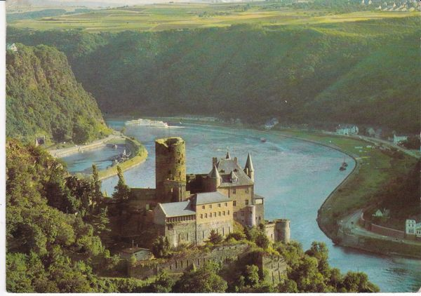 Post Card Germany The RHINE KATZ CASTLE and LORELEY