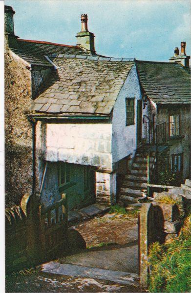 Postcard Cumbria Lake District HAWKSHEAD PILLAR COTTAGE Webster LK 80