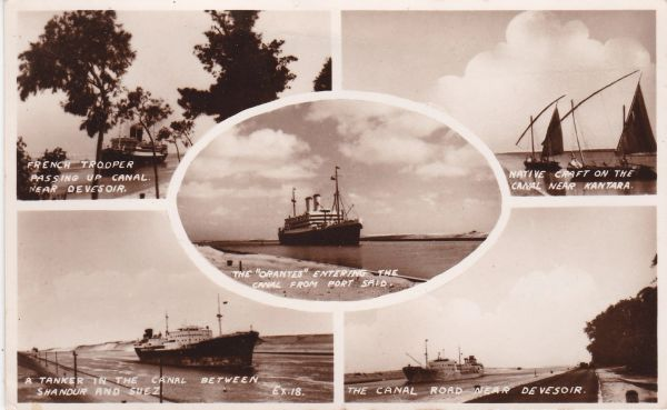 Post Card Transport Sea Ships in the Middle East 5 Views