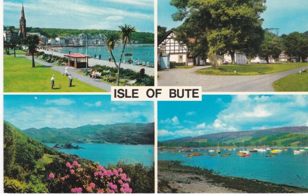 Post Card Scotland Argyll and Bute ISLE OF BUTE Colourmaster International