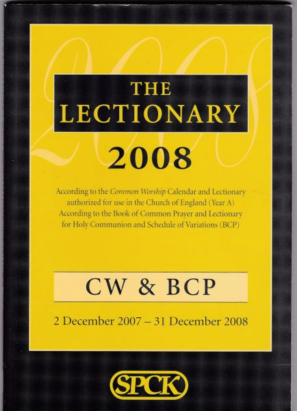 THE LECTIONARY 2008