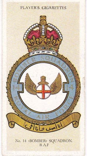 with motto No. 08 - No. 14 (Bomber) Squadron
