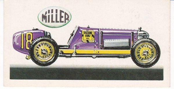 No. 30 – 1928 Miller Front Wheel Drive Supercharged 1½ Litres (U.S.A.)
