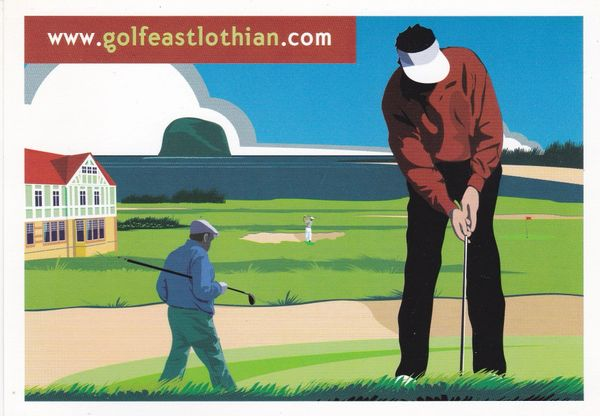 Post Card Scotland East Lothian golfeastlothian . Com