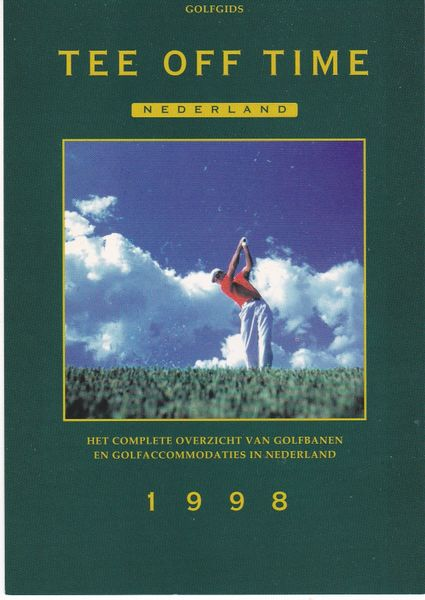 Post Card Golf / Advertising Tee Off Time Nederland 1998
