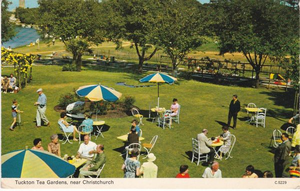 Postcard Dorset Christchurch Tuckton Tea Gardens