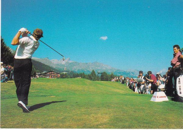 Post Card Switzerland Crans-Montana Golf Club Crans-sur-Sierre 18th hole