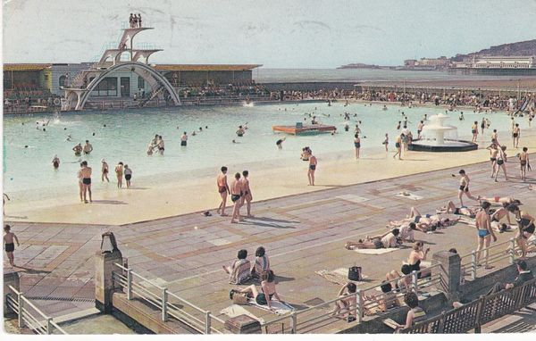 Postcard Somerset WESTON-SUPER-MARE Swimming Pool