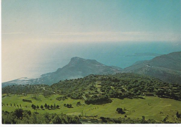 postcard Monte Carlo Golf Club unused No 5022 view of the Coast
