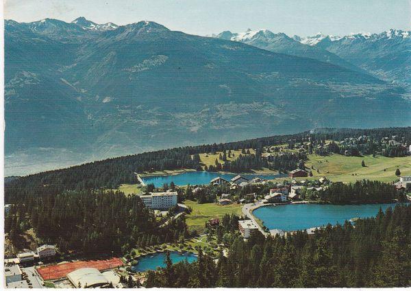 post Card Switzerland Montana-Crans general view