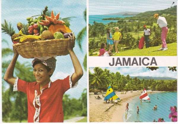 Postcard West Indies Jamaica 3 views