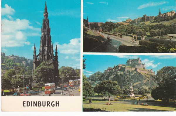 Post Card Scotland EDINBURGH 3 views0