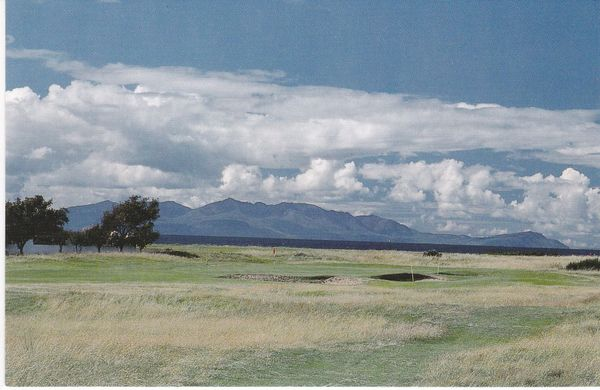 Post Card Scotland Ayrshire Royal Troon Golf Isle of Arran in background